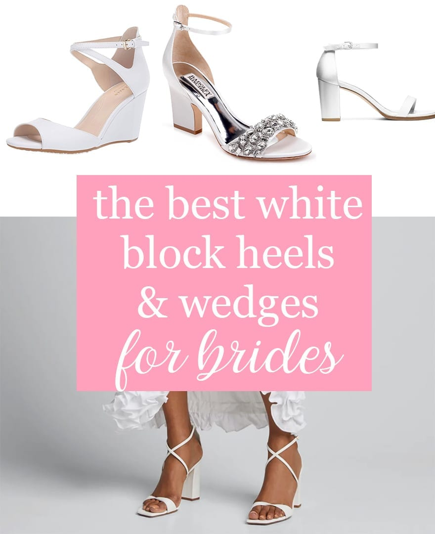 The Best White Wedge Sandals & Comfortable, Chunky Block